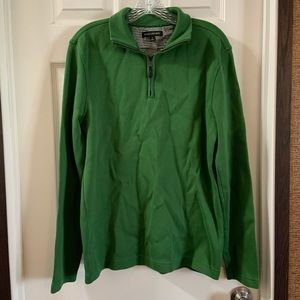 Banana Republic Green 1/4 zip elbow patch pullover